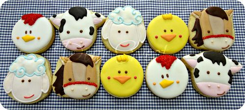 Farm Themed Cupcakes & Cookies