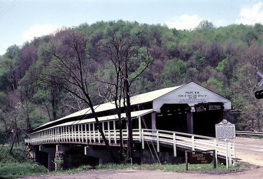 Philippi, WV. This bridge burned when I was just a girl. Although they attempted to restore it, it just isn't the same. So happy to have found it here on Pinterest.