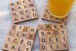 Make Your Own Scrabble Coasters
