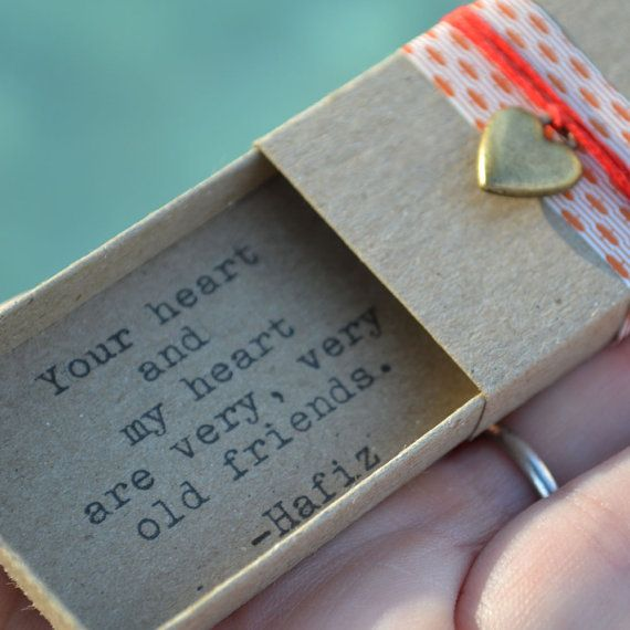 Old Friends Message Box Hafiz Quote by LuckyBugPaperCo on Etsy, $10.00