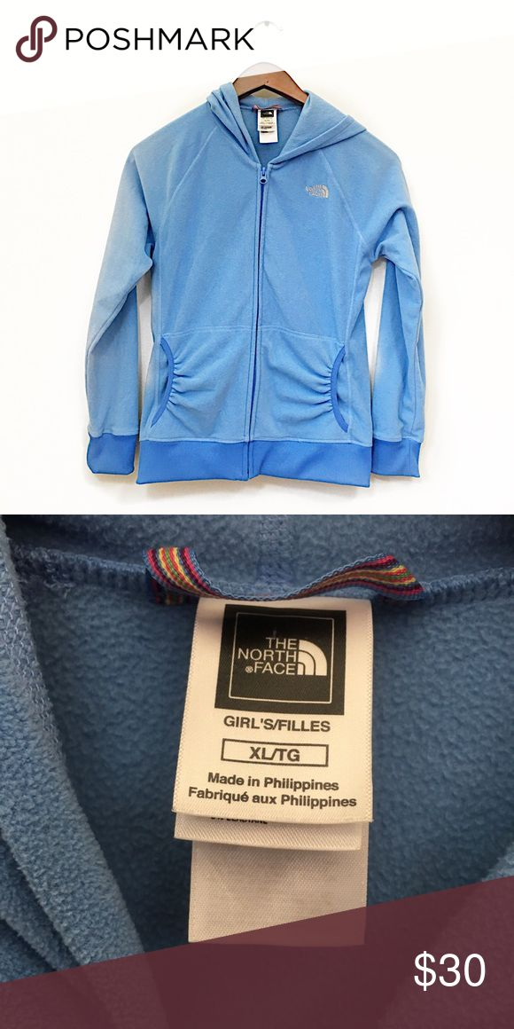 The north face XL girls fleece jacket Please review measurements to ensure proper fit - Measures 19 inches underarm to underarm and 26 inches long The North Face Jackets & Coats