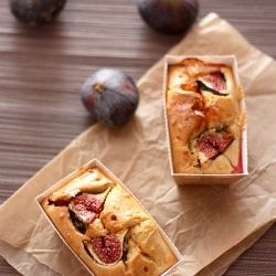 Small cakes with figs and goat cheese, ideal for party, as lunch or as a snack! (in French)