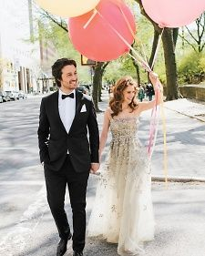 Ambiance~Distinctive Weddings and Events A fun picture for a Spring or Summer wedding, using balloons as a prop. (C/O marthastewartweddings.com)  (410) 819-0046