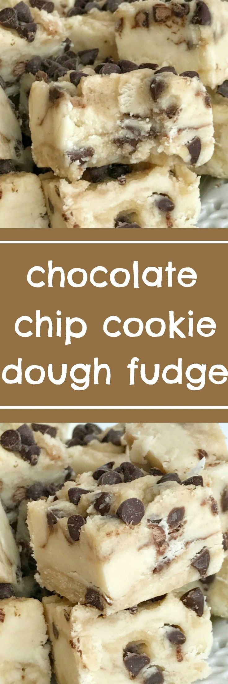 A sweet & creamy fudge that tastes exactly like chocolate chip cookie dough for sweet treats this Christmas