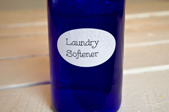 homemade fabric softener plus links to several other homemade household cleaning products