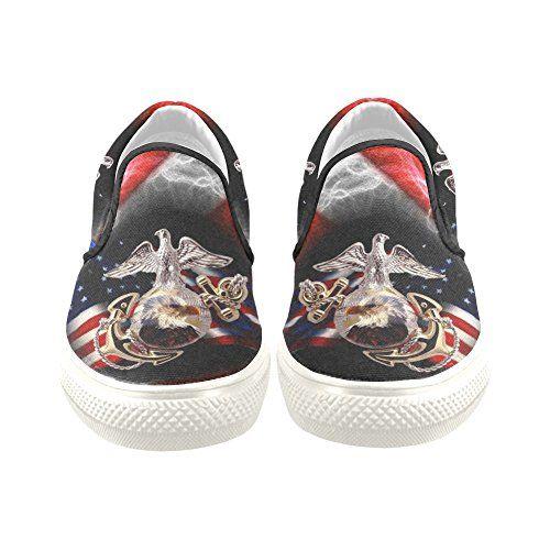 D-Story Custom USMC US Marine Corps Men's Canvas Shoes Fashion Shoes Sneaker | MyPointSaver