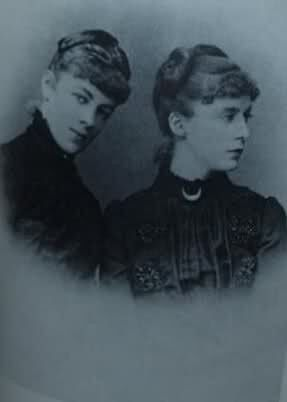 Interesting story: Later in her life Marie claimed to be a illegitimate daughter of her aunt Queen Marie Sophie of Naples. The queen was known for her secret that she had an illegitimate daughter with a Belgian count. Marie claimed that her aunt got twins and that this photo is of her with her twin sister Daisy. Marie was supposed to be named Viola.