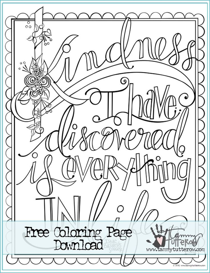 Show Kindness Coloring Pages