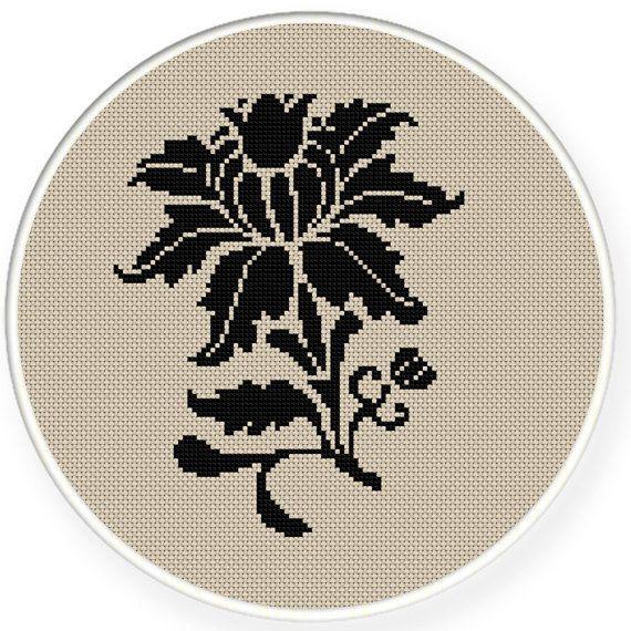 Buy 4 get 1 free,buy 6 get 2 free,Cross stitch pattern, Cross-Stitch PDF,Flower pattern,zxxc0336. $4.50, via Etsy.