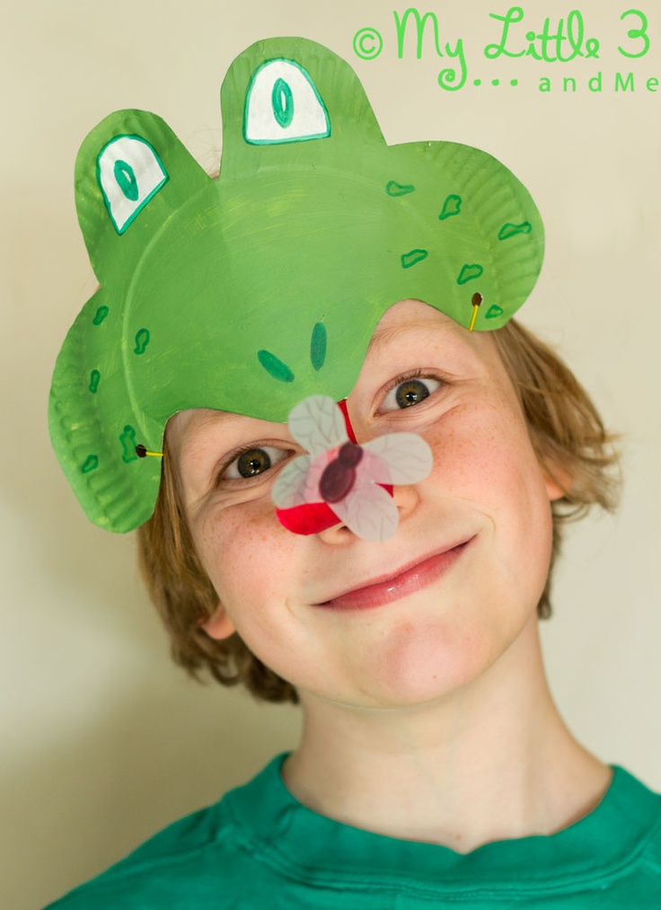 Step 1:Fun Frog Mask Craft Step 2:  Your kids no longer talk to you after posting picture of them in mask on FB
