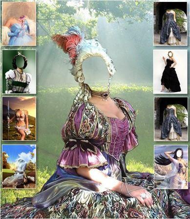 Шаблон женского костюма 15 века
