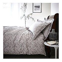Bianca Cotton Soft Sprig Grey Jacquard Duvet Cover Set - Super King