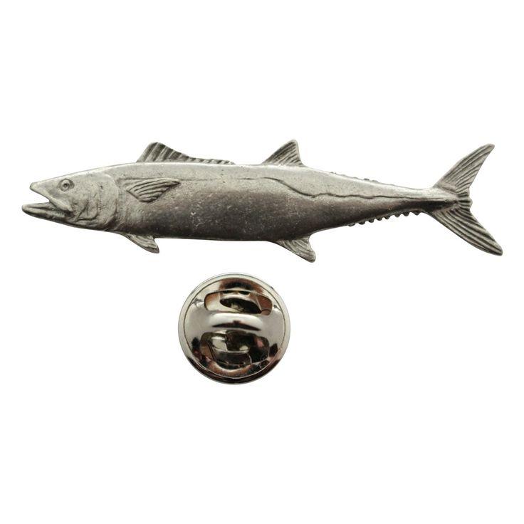 King Mackerel Pin ~ Antiqued Pewter ~ Lapel Pin