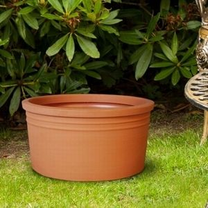 Poly Resin Low Cylinder   Planters and Pots   Resin planters