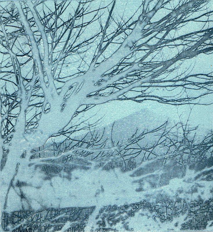 """Sugar Loaf"" Co Wicklow  Photo etching print 12cm x 13cm"