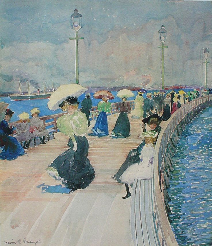 South Boston Pier CREATED: 1896 ca ARTIST: Maurice ...