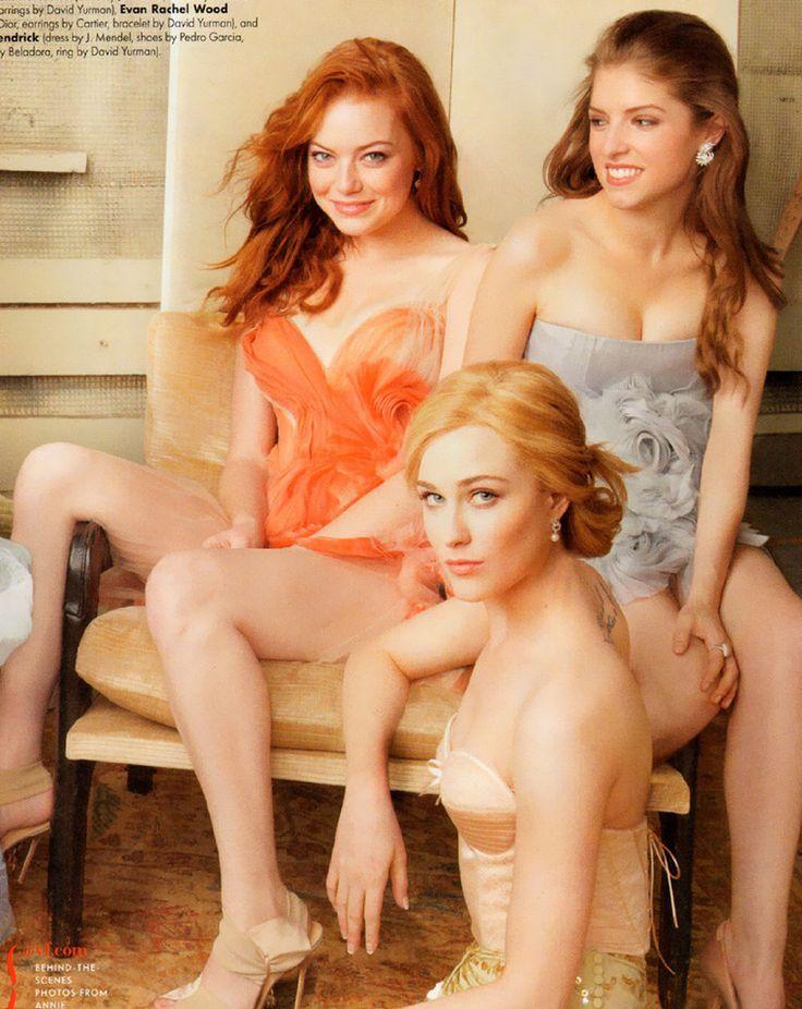 Emma Stone, Anna Kendrick and Evan Rachel Wood