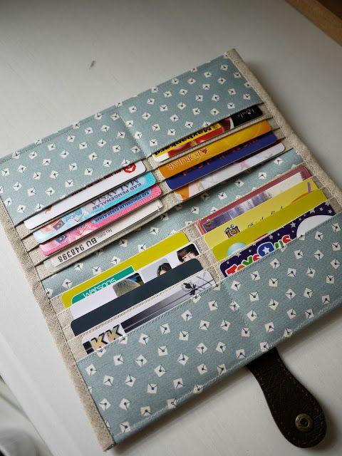 Dusty Blue Letter Long Wallet . 16 card slots