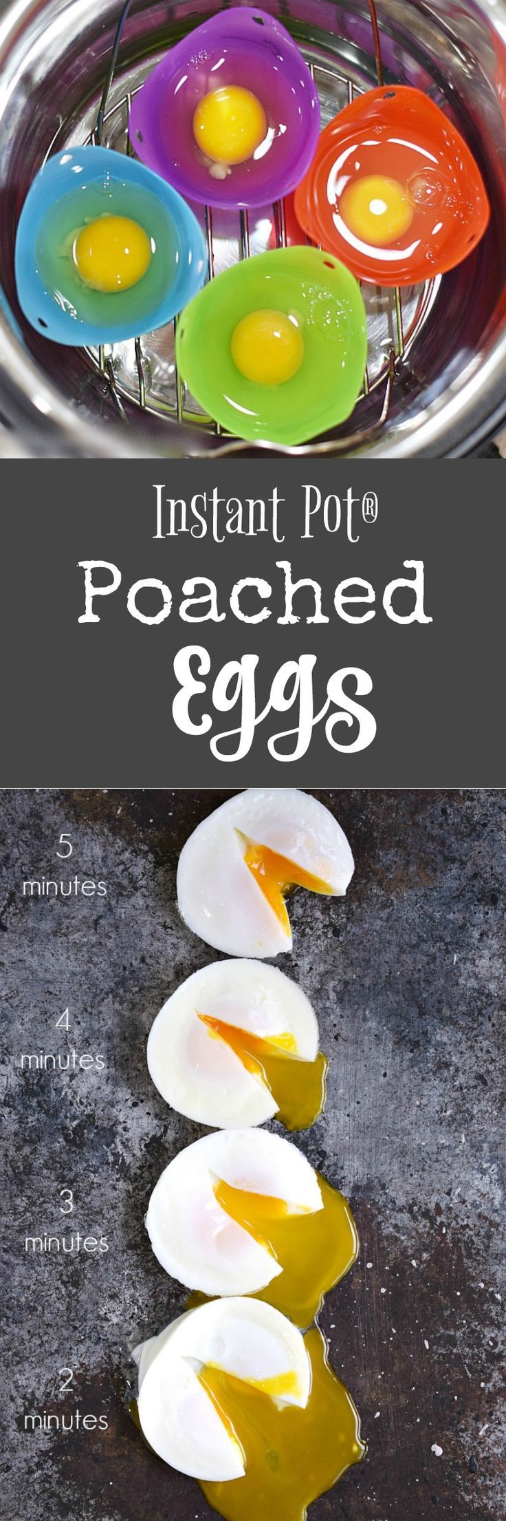 Now you can have Instant Pot Poached Eggs, hot and ready to serve in 2, 3, 4, or 5 minutes. They are super simple to make in individual silicone cups   cookingwithcurls.com