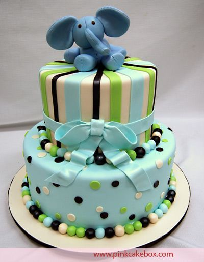 Another cute elephant tiered cake