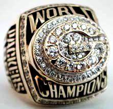 Green Bay Packers Super Bowl Championship Ring (1996)