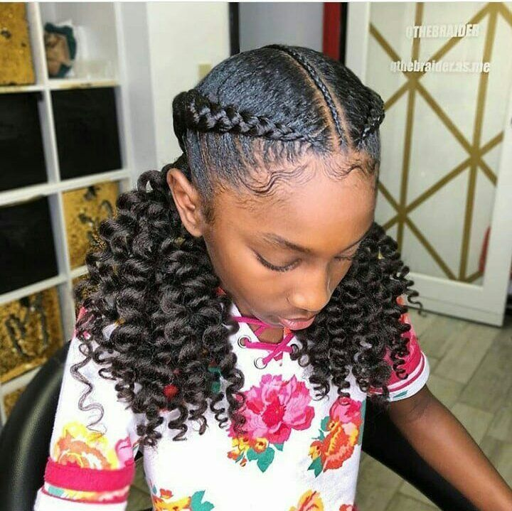 new year hairstyle 2019, princess braids,curly kids braids