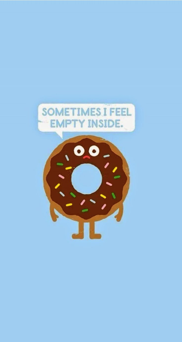 Sometime i fell empty inside - Funny Cartoon iPhone wallpapers @mobile9