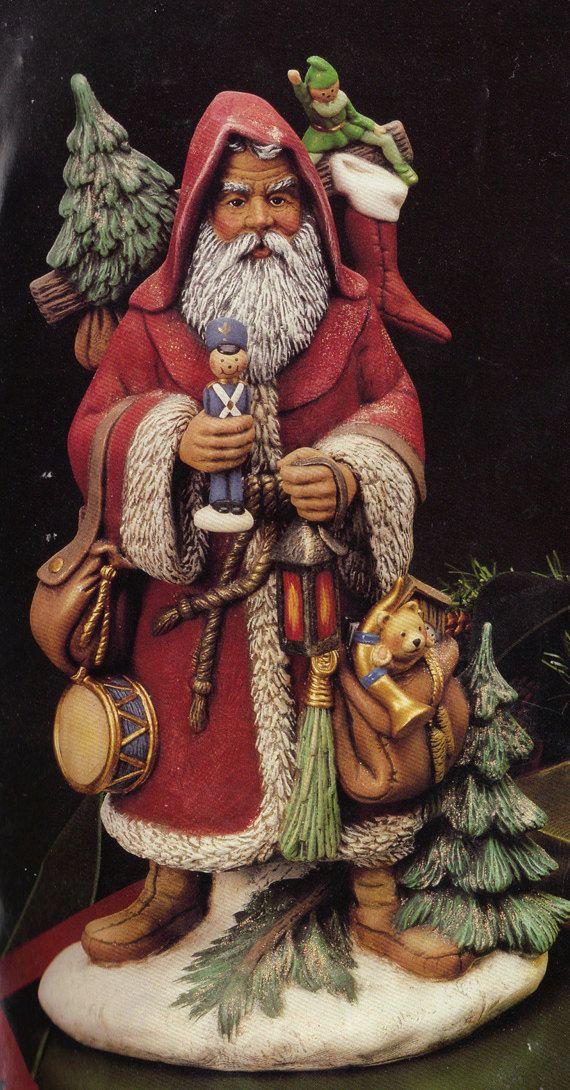 "Old World Santa, 16"",Large, Australian Santa, Christmas Decoration, Kimple santa, Collectible Santa, Ready to paint, Ceramic bisque, u-paint"