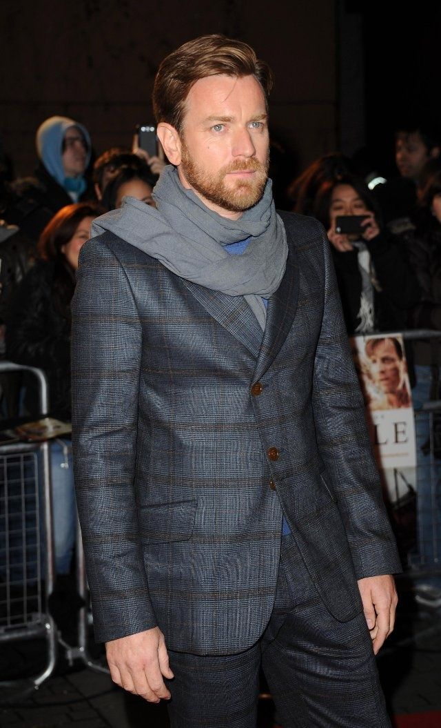 ewan mcgregor suit | Ewan McGregor... scarf and suit | Tailored | Pinterest