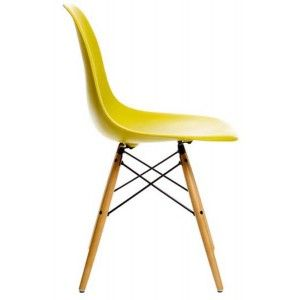 chaise dsw emaes vitra jaune moutarde : www.ideesboutique...