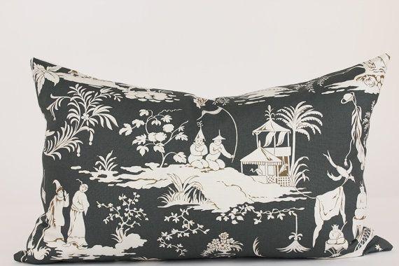 Schumacher STARRY NIGHT Lumbar Pillow Cover in Smoke, Accent Pillow, Toss Pillow, Throw Pillow, Decorative Pillow, Many Sizes