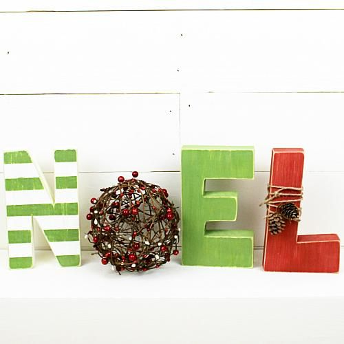 Noel Holiday Letters -- Celebrate the season with these whimsical letters.  #decoartprojects