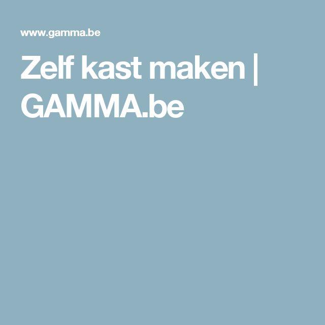 Zelf kast maken | GAMMA.be