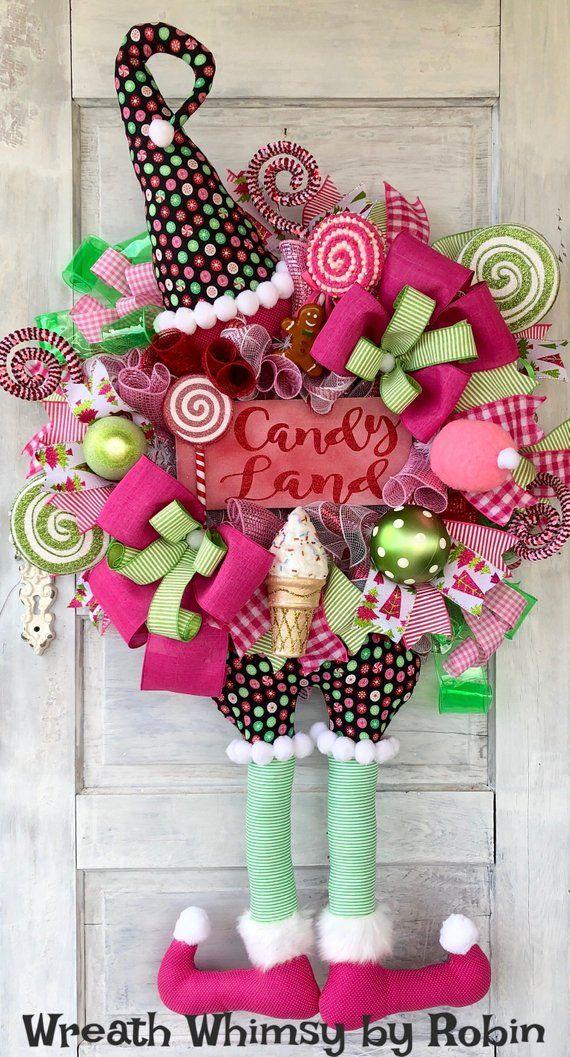 Christmas Wreath ~ Christmas Decor ~ Candy Wreath ~ Holiday Wreath ~ Holiday Decor ~ Candy Land Wreath