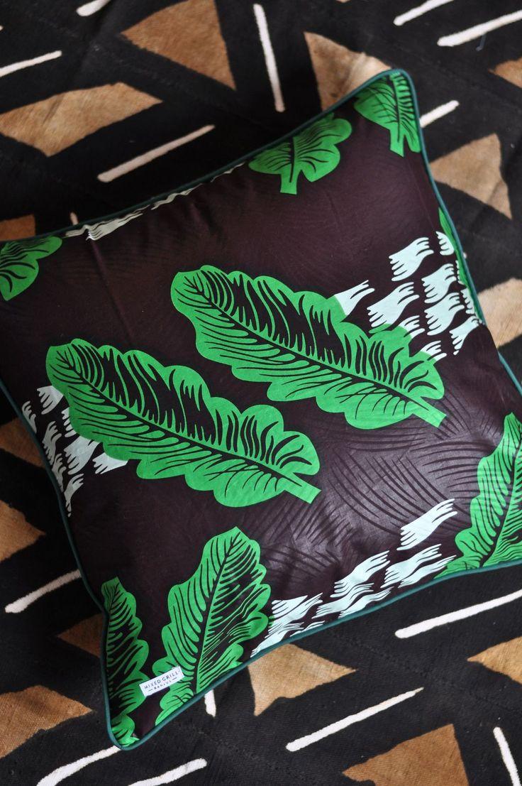 Mixed Grill Banjul - Green Leaf Pillowcase