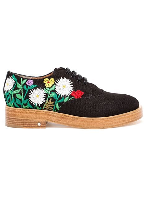 Laurence Dacade Floral Embroidered Lace-up Shoes - Browns - Farfetch.com