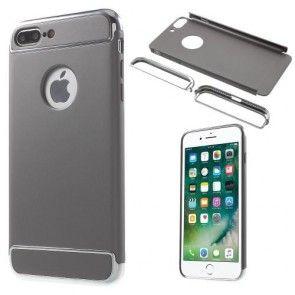 Husa iPhone 7 Plus, Plastic Dur, SuperSlim, Carcasa Protectie Spate, Gri