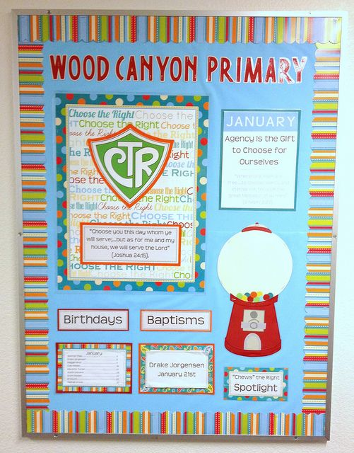 Primary Bulletin Board - ya this is my old ward's bulletin board!