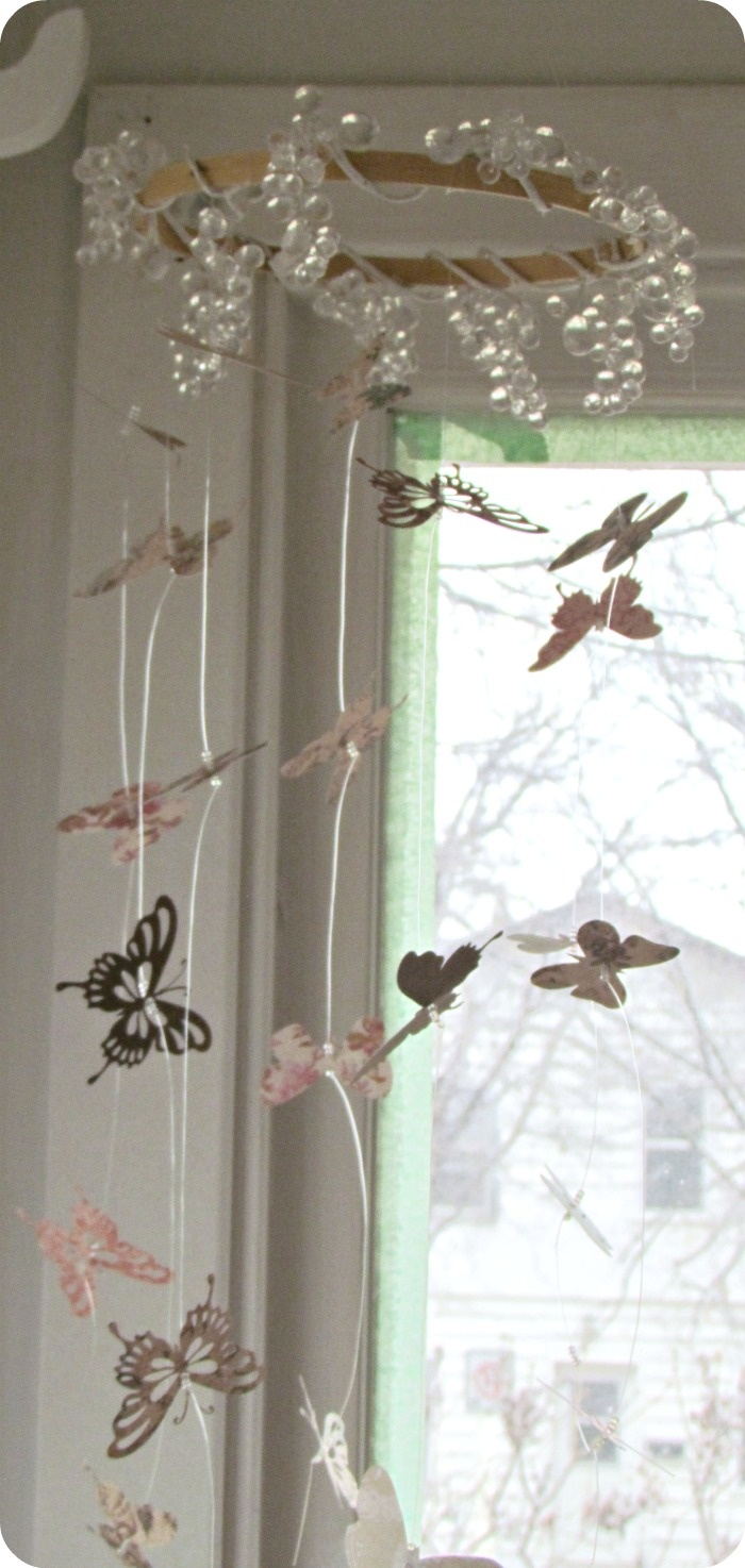 Diy butterfly mobile butterfly chandelier mobile - Etcetorize Butterfly Mobile