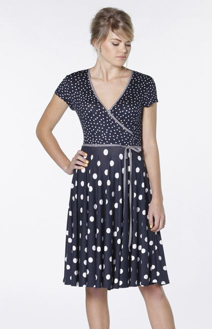 Wait and See Dress in Navy