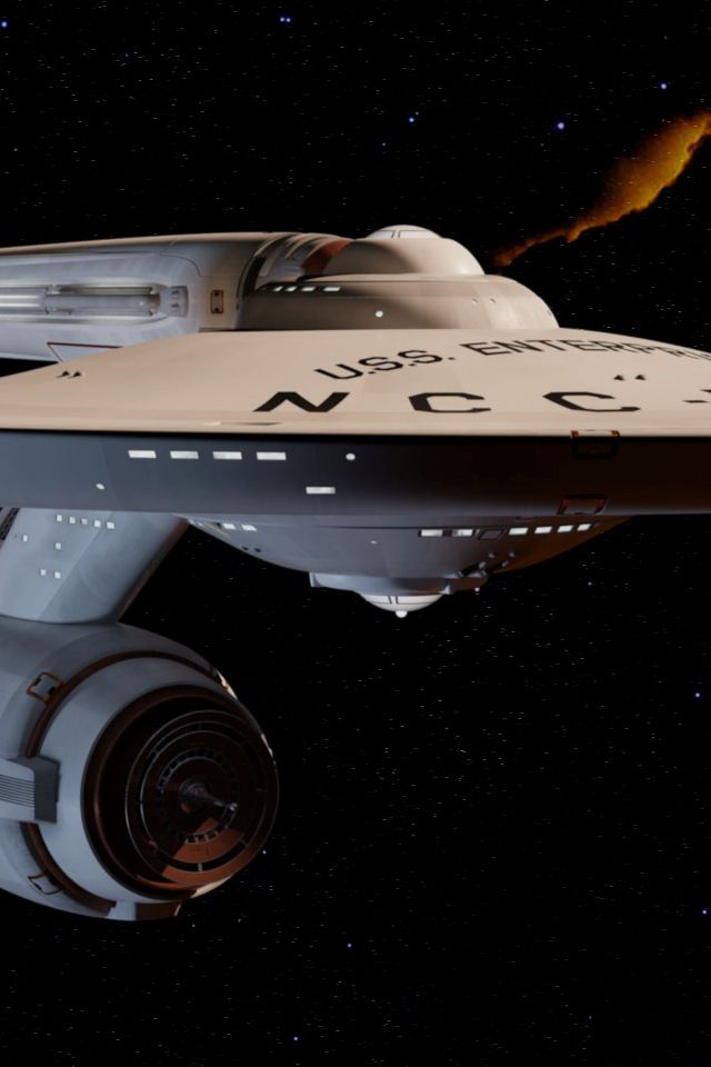Close-up of the original Constitution-class USS Enterprise NCC-1701