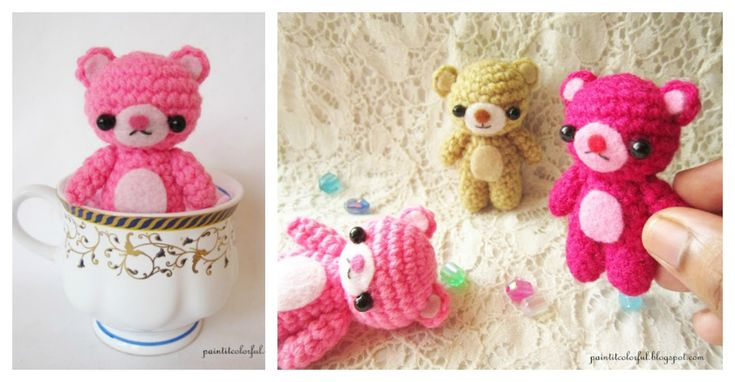 This Amigurumi Mini Teddy Bear Free Crochet Patternmakes a tiny little crochet…