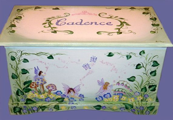 Fairy Toy Chest Custom Design by originalsbybarbmazur on Etsy, $279.00