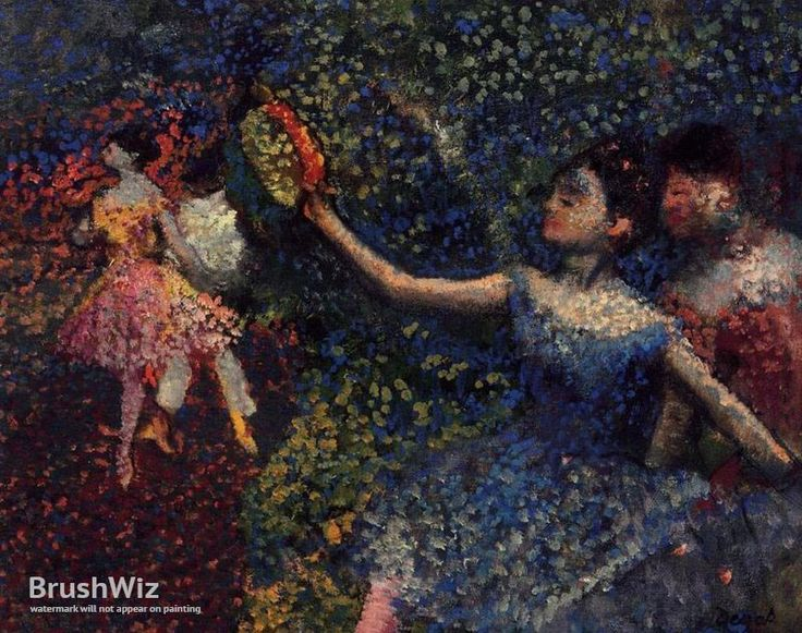 Dancer And Tambourine by Edgar Degas - Oil Painting Reproduction - BrushWiz.com