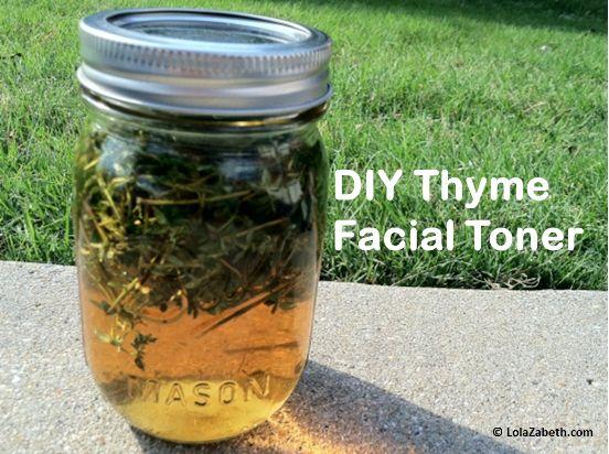 DIY Thyme Facial Toner: Beautiful Care, Facial Toner, Thyme Aloe Apples, Acne, Aloe Apples Facials, Aloeappl Facials, Facials Cleanser, Thyme Facials, Homemade Herbal Facials Toner