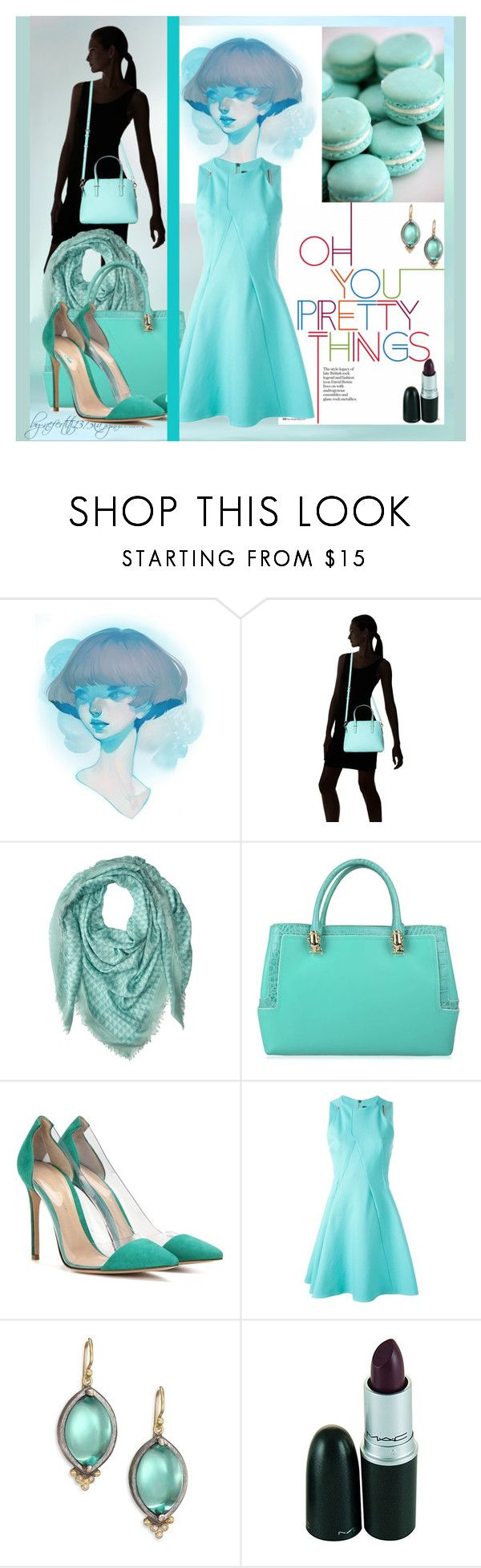 """""""Burning Inside The music of tears"""" by nefertiti1373 on Polyvore featuring Kate Spade, Proenza Schouler, Roberto Cavalli, Gianvito Rossi, Roland Mouret and Rene Escobar"""