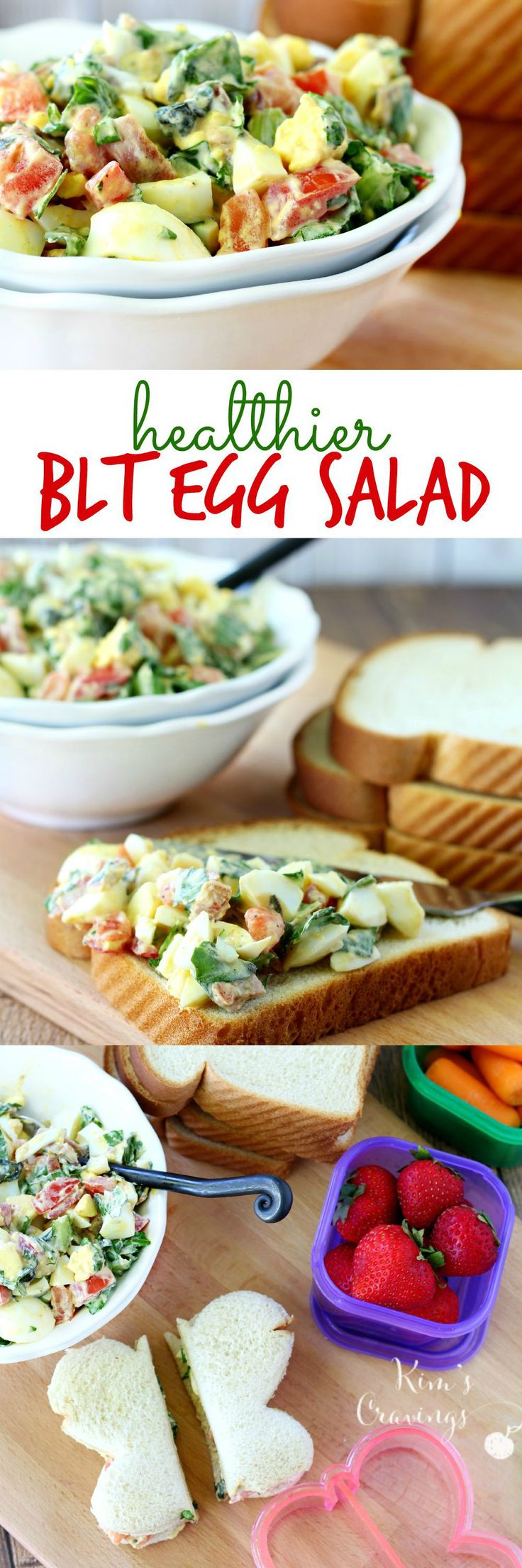 All the flavor of a BLT in a healthy egg salad, perfect for back-to-school… or in my case, back-to-work lunches. Packed with protein and healthy fats to keep you satisfied throughout the day, while being super simple to throw together!