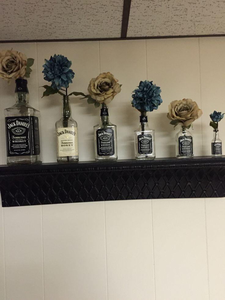 Jack Daniels bottles and flowers!