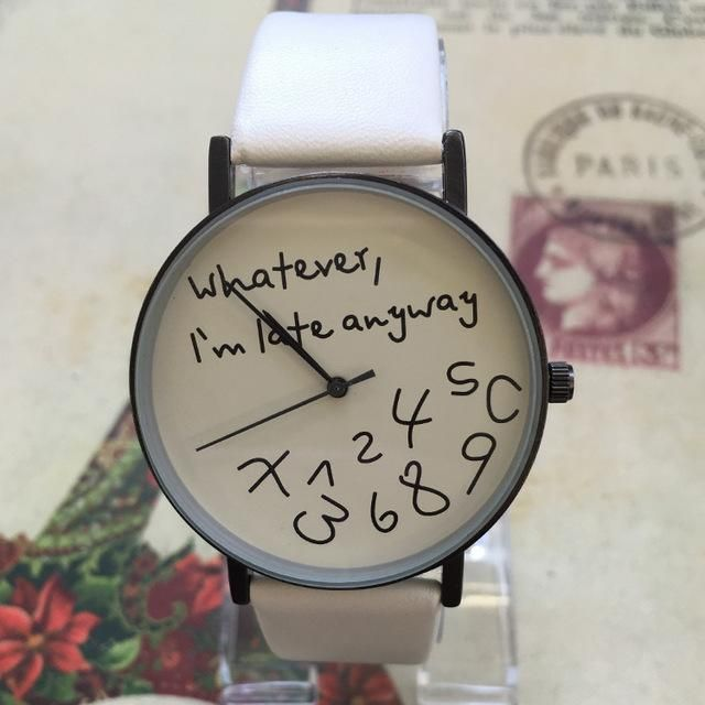 Casual Leather 'Whatever' Watch