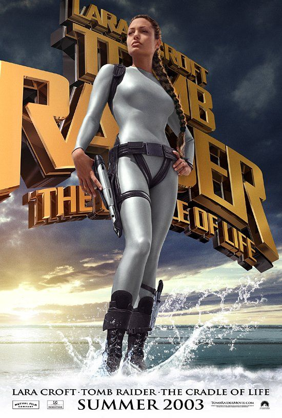 Lara Croft Tomb Raider: The Cradle of Life (2003) Directed by Jan de Bont.  With Angelina Jolie, Gerard Butler, Chris Barrie, Ciarán Hinds. Adventuress Lara Croft goes on a quest to save the mythical Pandora's Box before an evil scientist and recruits a former Marine turned mercenary to assist her.